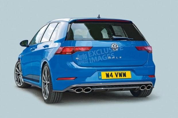 «Заряженный» VW Golf восьмого поколения поймали без камуфляжа