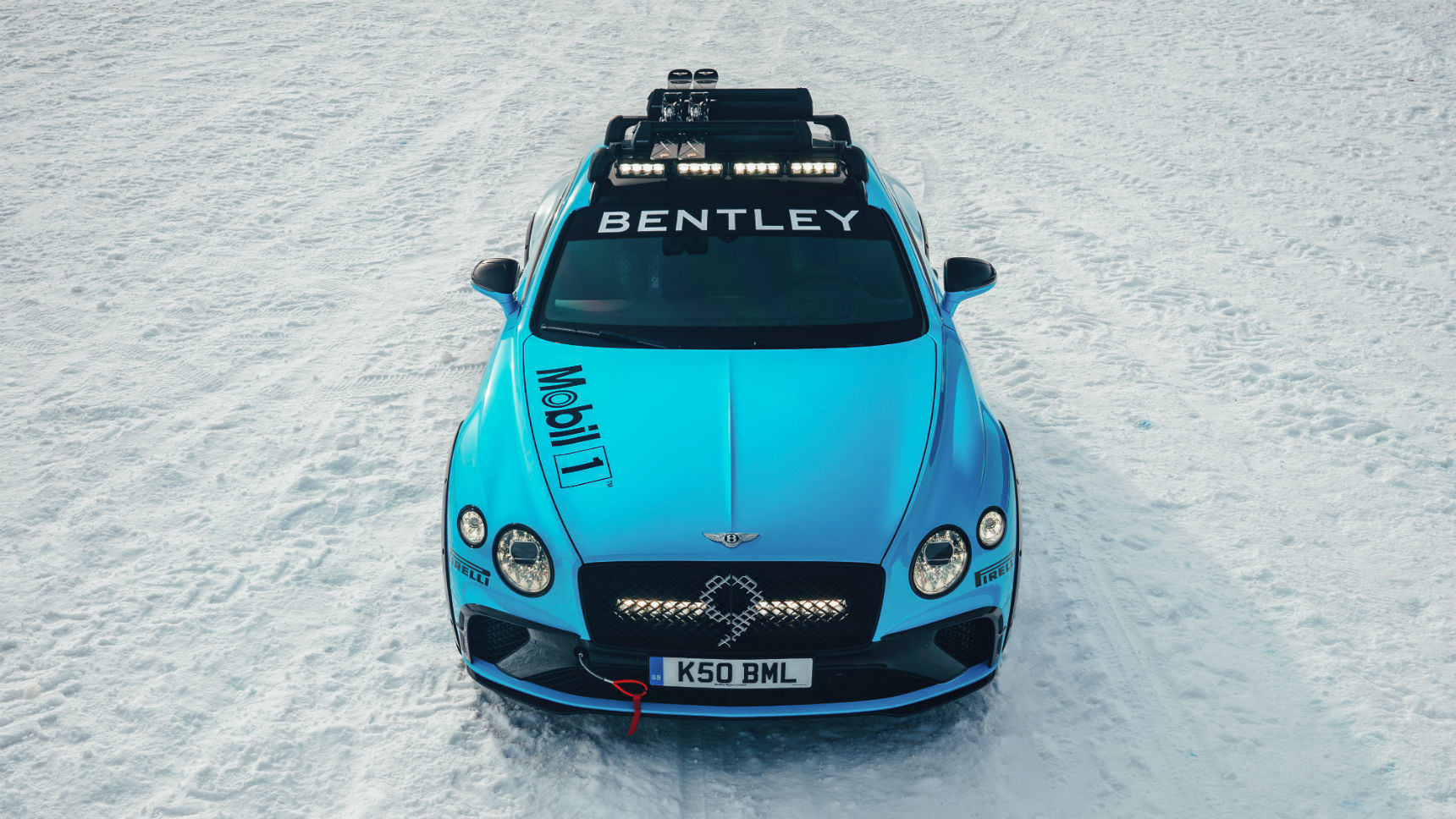 Bentley Continental GT подготовили для гонок на льду