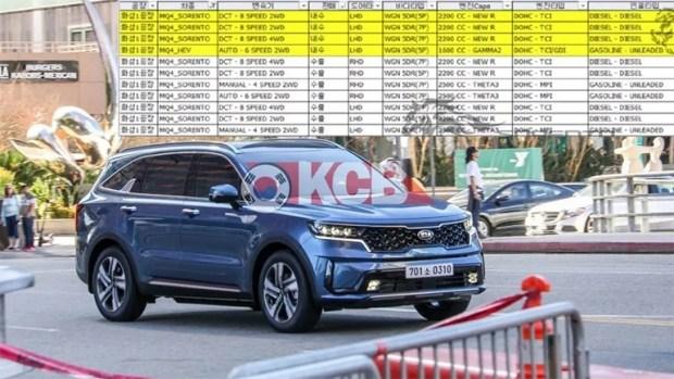 В Cеть слили список силовых агрегатов KIA Sorento