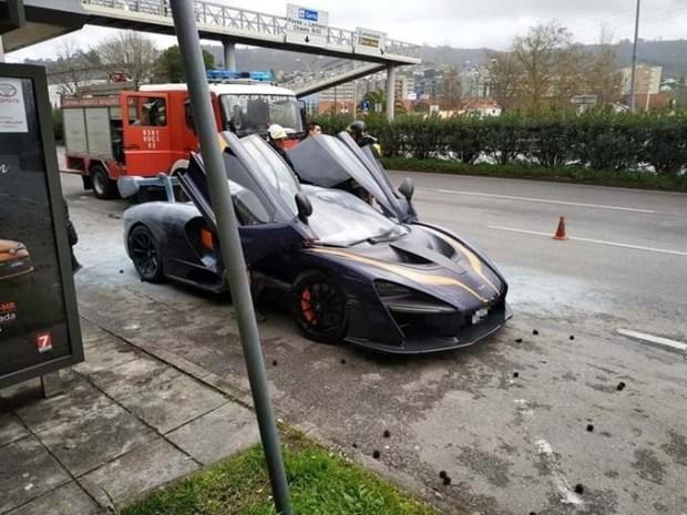 В Португалии загорелся еще один McLaren Senna стоимостью миллион евро