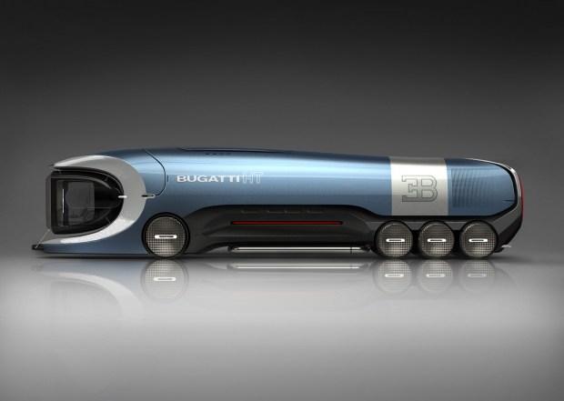 В Сети показали рендеры футуристичного грузовика Bugatti