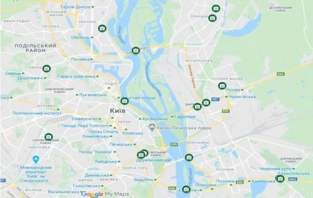 Где в Киеве установлены камеры фотофиксации нарушений ПДД