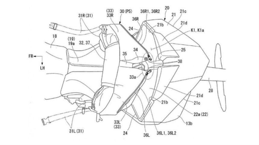 Honda готовит спортбайк со спойлером