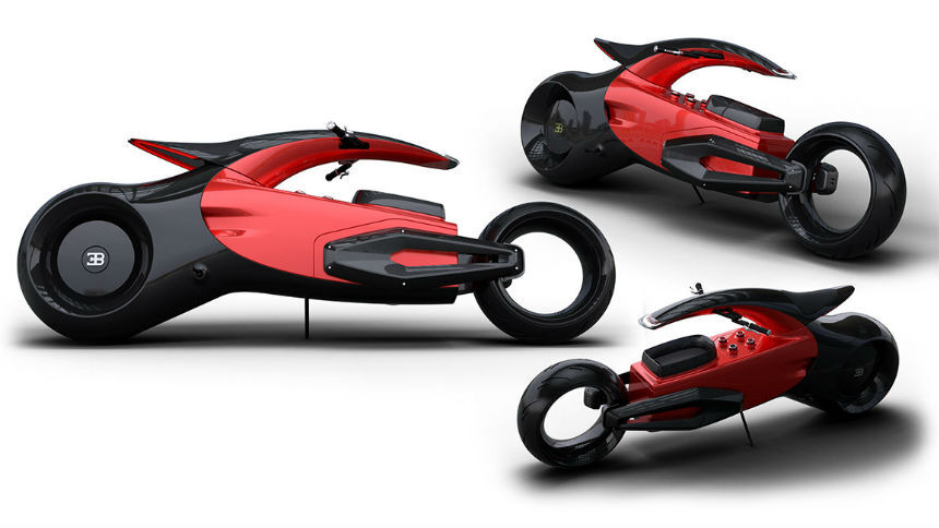 Концептуальный мотоцикл Bugatti