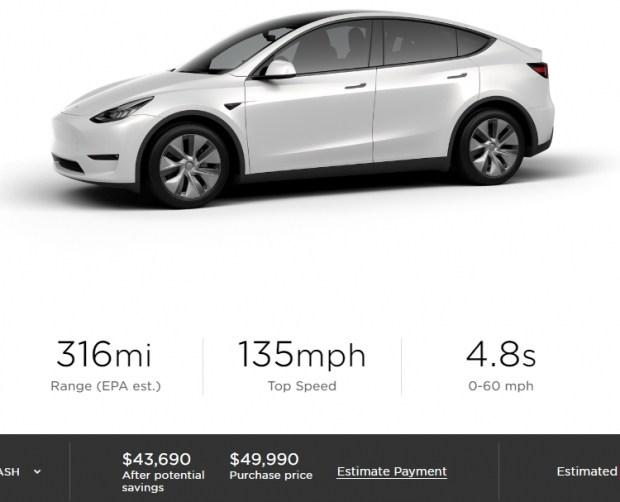 Tesla снизила стоимость электрического кроссовера Model Y на 00