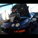 Посмотрите на старую Honda Integra с VR6 в багажнике