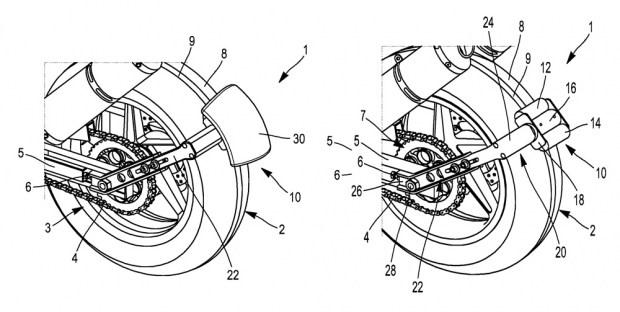 Michelin запатентовала заднее крыло с внешним приводом для колеса
