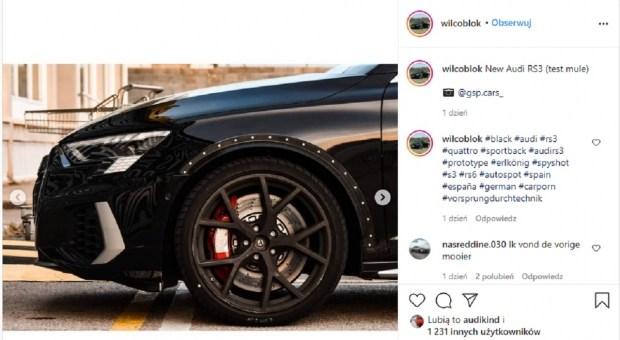 Новая RS3 Sportback попалась без камуфляжа