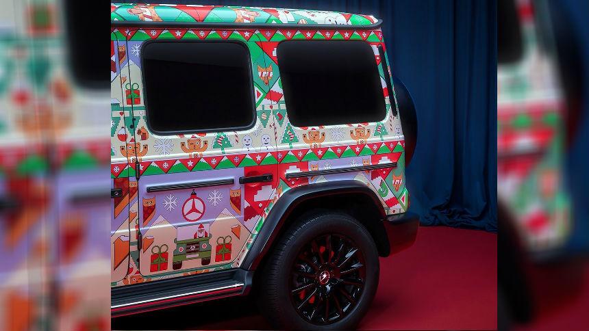 Mercedes превратил две модели в «уродливые рождественские свитеры»