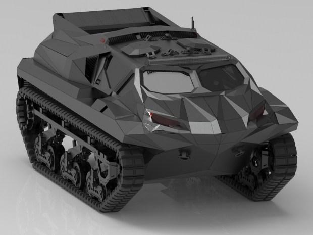 Украинцы создали гибридный плавающий танк мощностью 2500 сил (видео)