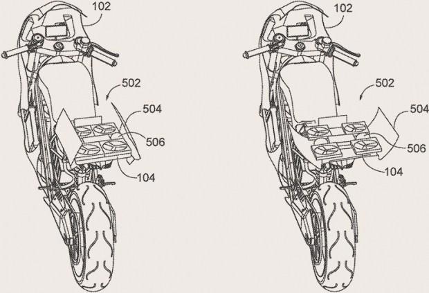 Honda запатентовала квадрокоптер, встроенный в мотоцикл