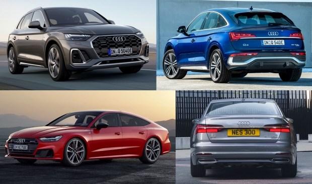 Audi добавила новый гибрид и обновила прежние