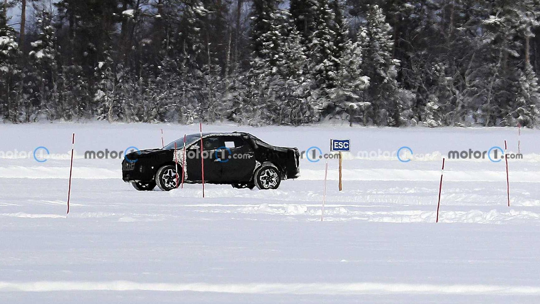 Hyundai испытал свой пикап морозом и льдом