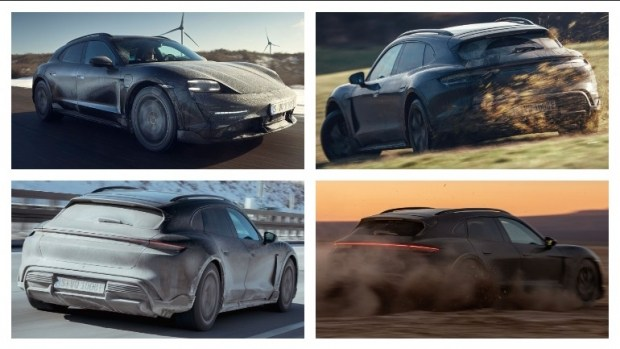 Porsche Taycan Cross Turismo: «живые» фото без камуфляжа