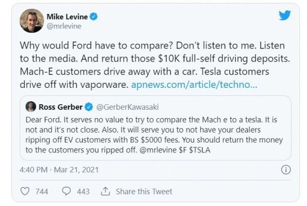 Как Форд троллит Теслу?