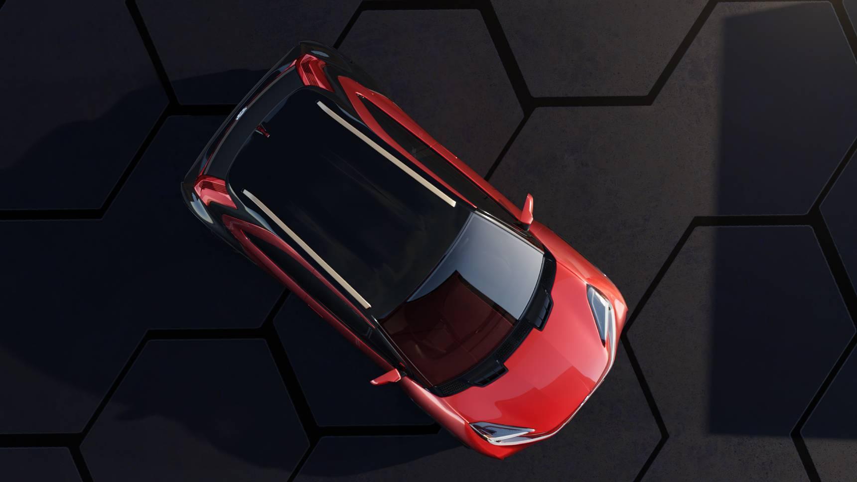 Toyota представила стильный кросс-хэтч с экшн-камерой в зеркалах