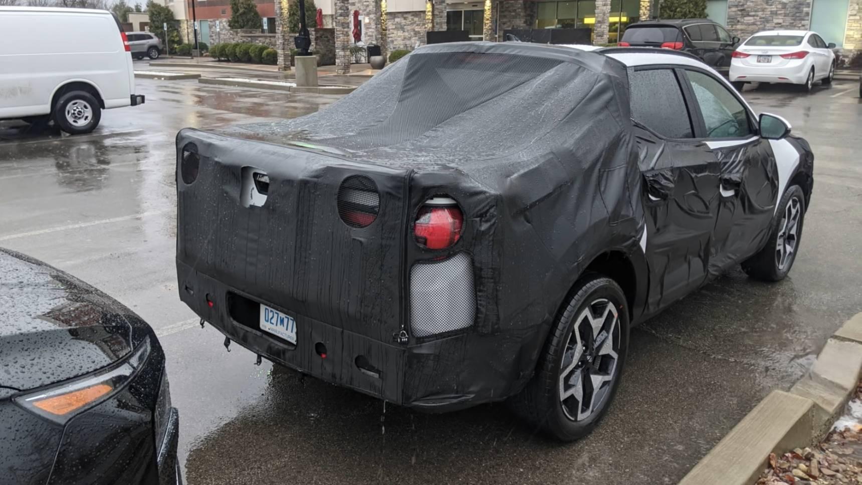 Новейший пикап Hyundai попал на видео