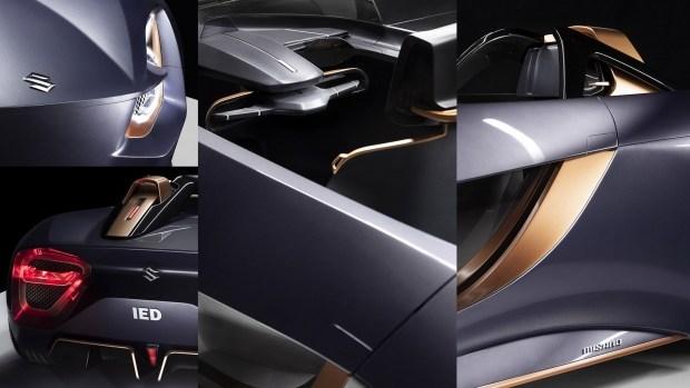 Концепт Suzuki Misano скрестил электрокар с мотоциклом