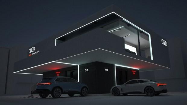 Audi представила прототип 300-киловаттной быстрой зарядки