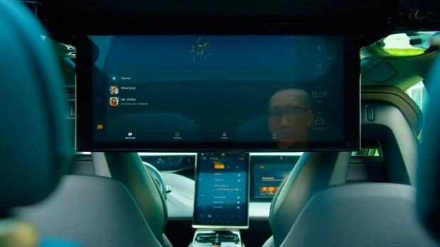 27-дюймовым экраном в электрокаре FF 91 от Faraday Future