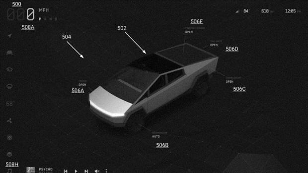 Заявка на патент раскрыла секреты Tesla Cybertruck
