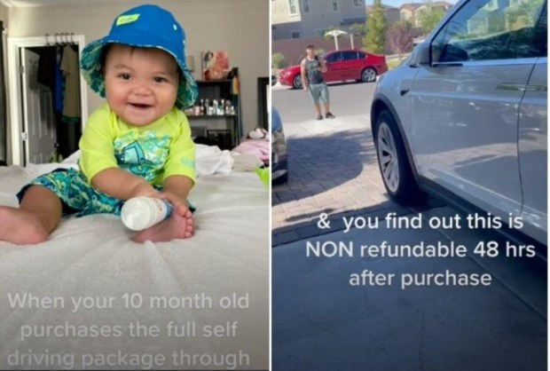 Младенец накупил обновлений для Tesla на .000