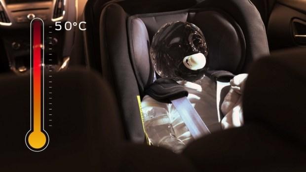 Для «одаренных»: Ford показал, почему оставленный в машине ребенок или собака может обернуться трагедией