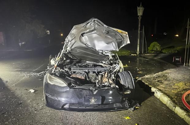 «Слишком горячая»: новая Model S Plaid загорелась прямо во время движения