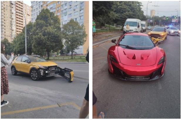 В Украине разбили эксклюзивный суперкар McLaren (фото)