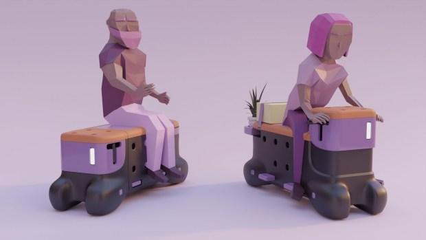 Сел на скамейку, и поехал: Ford показал новый вид городского транспорта