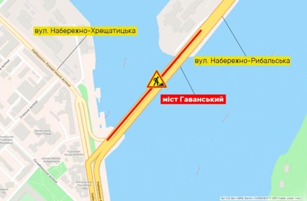 В пятницу вечером, 6 августа, на Гаванском мосту ограничат движение на несколько дней (схема)