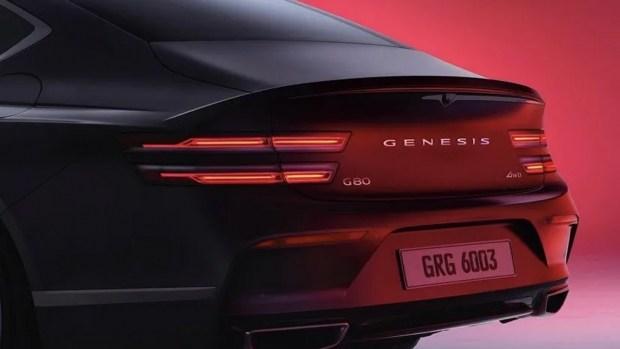 Hyundai опубликовал тизер нового Genesis G80 Sport в преддверии дебюта