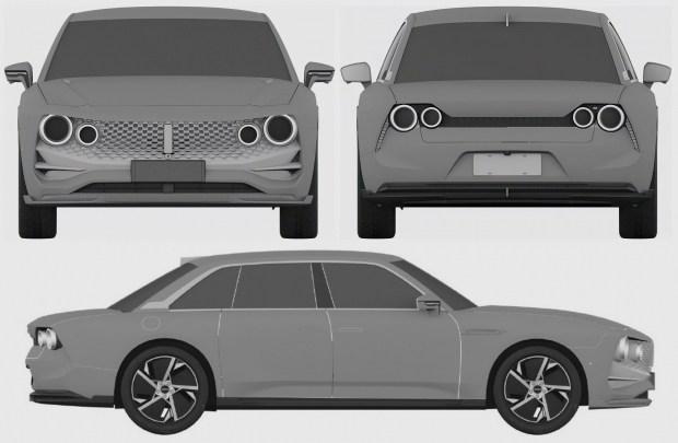 Первый седан марки Wey замечен на патентных рисунках